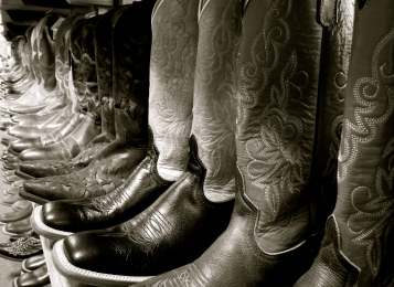 Some authentic Oklahoma cowboy boots